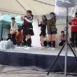 西小山観光フェス 小雨の中ダンス部の発表
