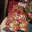 クッキーの棚もクリスマス仕様?