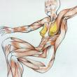 Nude-Muse-angel-Tableau-ヌード-芸術-アート-絵画:両ウイング