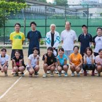 教職員とテニスしました!