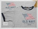 OLD NAVYの Flag Tees!