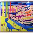 今日は「恐竜の日」(^^♪SOU-JR総持寺駅アートプロジェクト 上田匤志「恐竜ワールドのおわり」