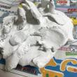紙粘土でケーキ