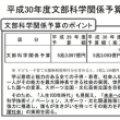 平成30年度文部科学省 予算(案)の発表資料一覧(1月)
