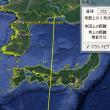 北朝鮮がグアムに向けて発射した場合の軌道