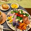サラダの夕ご飯
