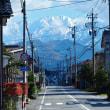 昨日の続き、雲が上がって雪山がさらに見える・・・上市町