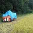稲刈り二日目、途中で中止!