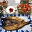 焼き魚の朝食