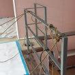 木造建築 鉄骨階段 手すり取り付け 仕事7
