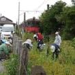銚子電鉄外川駅で菜の花の種まきをしました