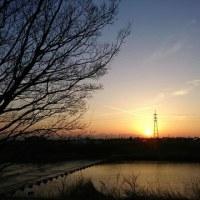 堤防からの夕焼け☆