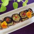 野菜の黒米押し寿司・・茄子・( ^ω^)・・・