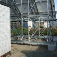 ソーラーパネル 屋内工事始まる
