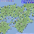 3月16日 アメダスと天気図。