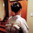㋂10日出張着付は2件、泉佐野市と堺市中区、列席着付けと訪問着の着付&ヘアセットでした。