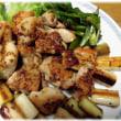 春の味わい(^^♪とっつあんちの定番料理の一つになった「鶏もも肉のレモンとマスタード焼き」