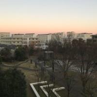 冬の朝明け