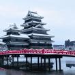 雪の松本城【長野県松本市】