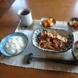 ランニング後のお昼ご飯はお肉です。