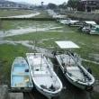 干潮の椀舟の港/2018年梅雨