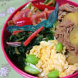 野菜炒め&おにぎり弁当