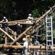 安曇野市三郷中萱熊野神社祭礼(お船の組立)