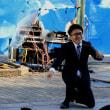 「白でもなく黒でもなく」<望月ゆうさく>を見に大道芸ワールドカップin静岡2016