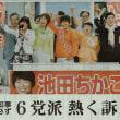 #akahata 池田知事実現必ず 6党派 熱く訴え/来月10日投票 原発ゼロの新潟 共闘勝利で・・・今日の赤旗記事