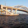 夕暮れの夢洲大橋