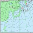 12月13日 アメダスと天気図。