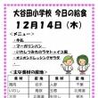 今日(12/14木)の給食
