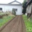 秋野菜の畝づくり