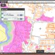 島根県の各市町村の津波避難用の色別の標高地図。ゼロ~5~10~20~30~40メートル、40メートル以上の6段階の標高の範囲の地図