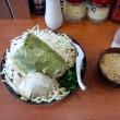 横浜家系つけ麺。野菜山盛りがいいね。