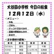 今日(12/12水)の給食