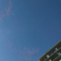 人生二度目の風船飛ばし