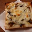 乃が美のパンで高菜のチーズトースト