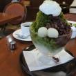 かき氷『織部』とサイフォンコーヒーのセットを三省堂UCCカフェコンフォートにて