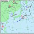 9月23日 アメダスと天気図。