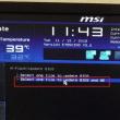 msi H87-G41 PC MATE マザーの BIOS をアップデートしました。