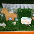 くまさんのぼうけん3/14  シフォンケーキとクッキーのうさぎとみかん