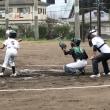 練習試合1試合目VS麓少年(原の前野球場)