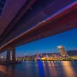 マジックアワーの摩耶大橋