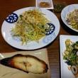 4月19日(木)筍と鶏、銀杏の塩胡椒炒め