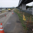 相模川自転車道路改修工事の状況報告