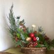 今月のアレンジメント(@12月 Christmas flower arranging)