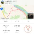 ジョグトレあきらめロングさんぽ 14km