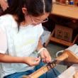姉弟3人で手織り体験です   竹島クラフトセンター