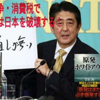 原発・戦争・消費税で安倍政権は日本を破壊する!当選可能性の高い反安倍候補者に一票を投じるべきである!